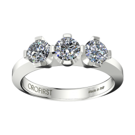 Anello Trilogy Real Love Bianco